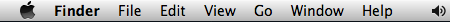 Mac OS X menu bar