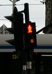 Traffic light in Amsterdam