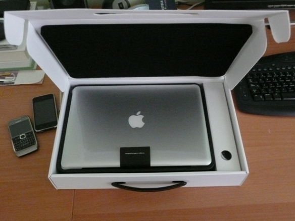 MacBook in the box
