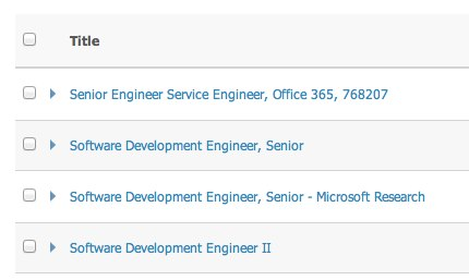 Job openings at Microsoft